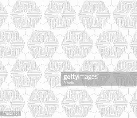 Slim gray triangle spirals forming hexagons