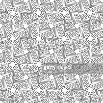 Slim gray wavy striped overlapping triangles