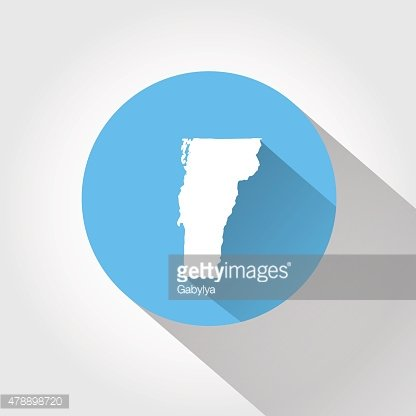 Map state of Vermont