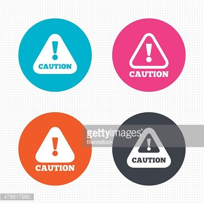 Attention caution signs. Hazard warning icons
