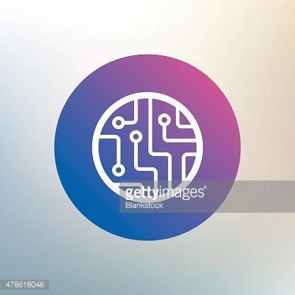 Circuit board sign icon. Technology symbol