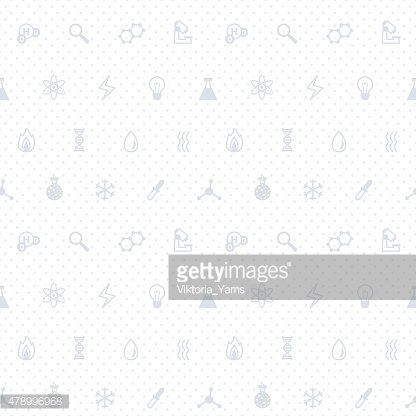 Science gray and white vector seamless pattern with dots.
