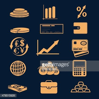set of business and finance icons