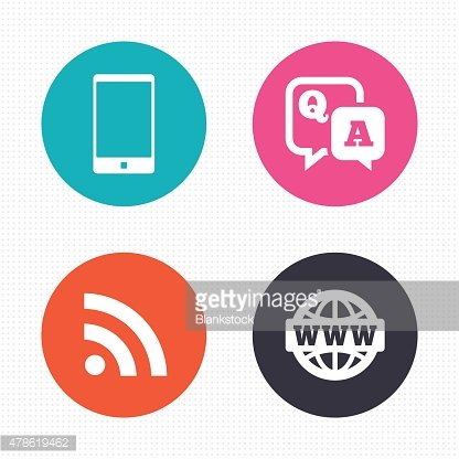 Question answer icon. Smartphone and chat bubble