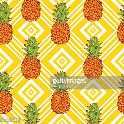 Tropical Pineapples Background