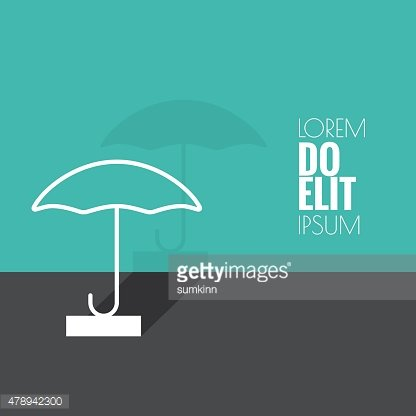 Abstract background with open umbrella