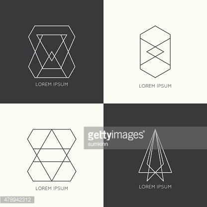 Set of vector hipster monogram