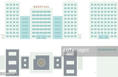 Hospital Building - Template for Creation Axonometric Projection