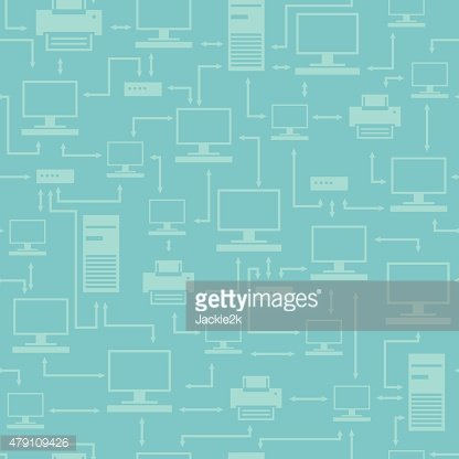 Seamless digital pattern with electronic devices.