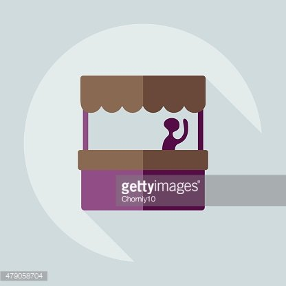 Flat modern design with shadow icon coffee stall