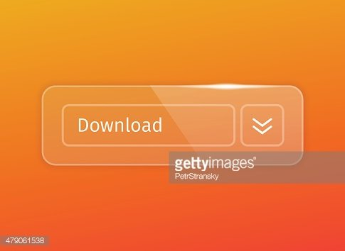 transparent glossy download button