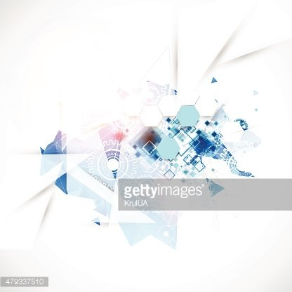 Abstract background with technological blue elements.