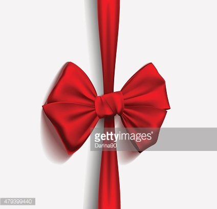 Realistic Ribbon red bow. Vector illustration
