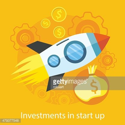 Launching New Product, Start up, Rocket Idea Icon