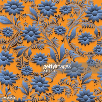 Floral pattern with shadows