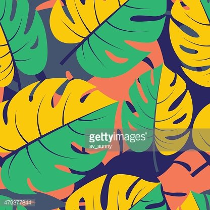 Beautiful seamless tropical jungle floral graphic seamless backg