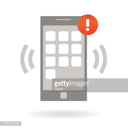Mobile smart phone with alarm notification