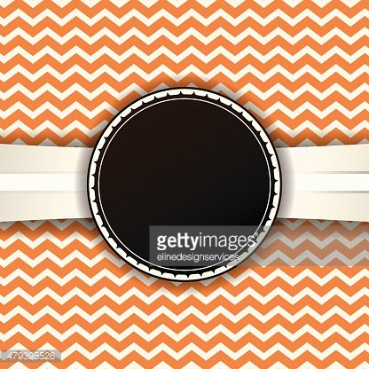 Vector Retro Chevron Pattern and Ribbon with Badge
