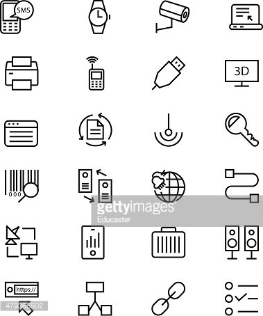 Communication Vector Line Icons 4