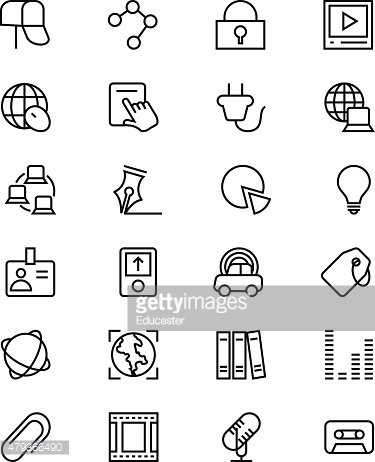 Communication Vector Line Icons 5
