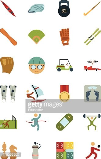 Sports and Games Colored Vectors 5