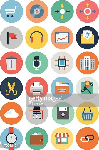 Office Vector Flat Icons 4