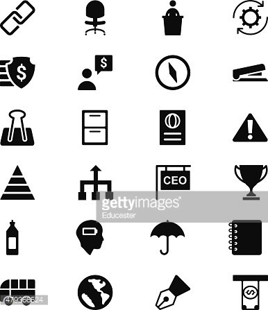 Business Vector Solid Icons 6