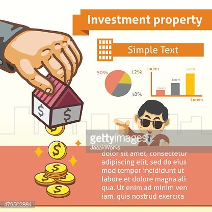 Investment Property Graphic Template with Illustration