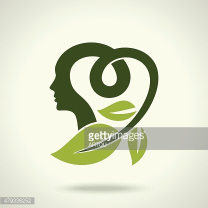 Vector Illustration, think green save earth