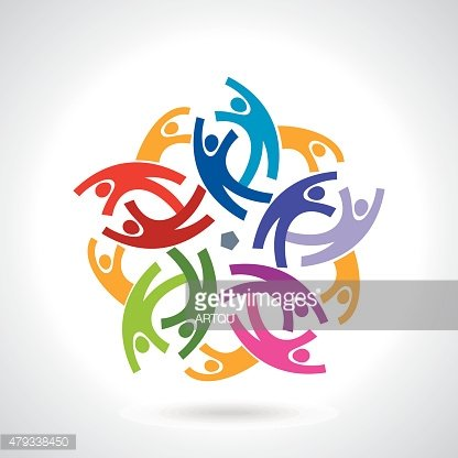 Concept of community,workers,unity,social networking icon image