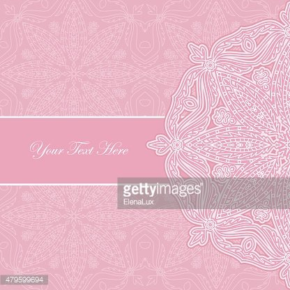 Pink lace pattern with text place