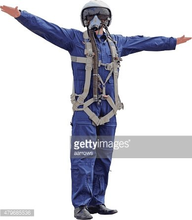Man dressed a pilot on a white background. Vector illustration.