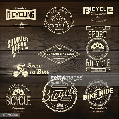 Bicycle set badges logos and labels for any use