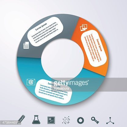 Fullcolor banners as element of the circles for infographics