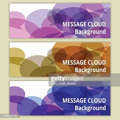Abstract message cloud banner background. Vector