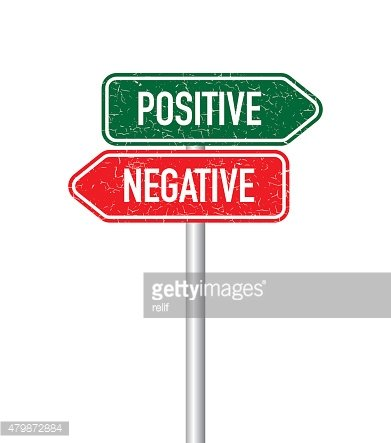 Positive and negative signpost