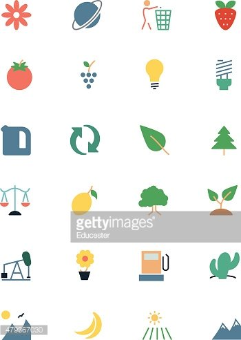 Nature and Ecology Colored Icons 2