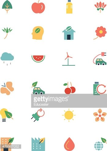 Nature and Ecology Colored Icons 1