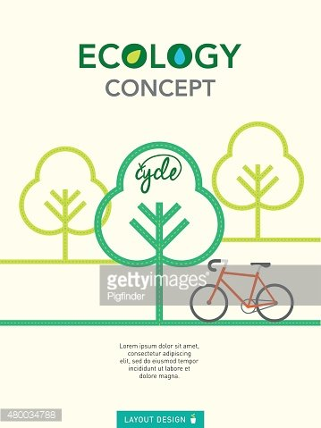 Ecology concept illustration layout design template