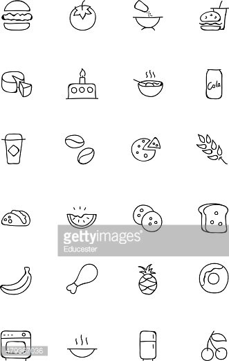 Food Hand Drawn Icons 3
