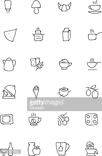 Food Hand Drawn Icons 9