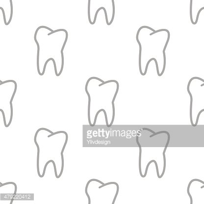 New Tooth seamless pattern