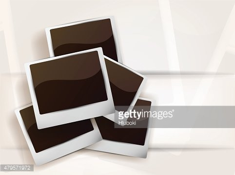 Background with photoframes