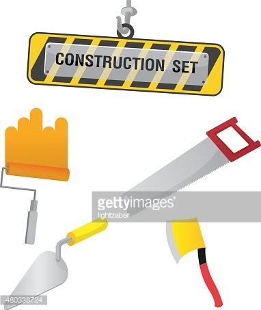 Construction Symbol Icon Object Set D Vector