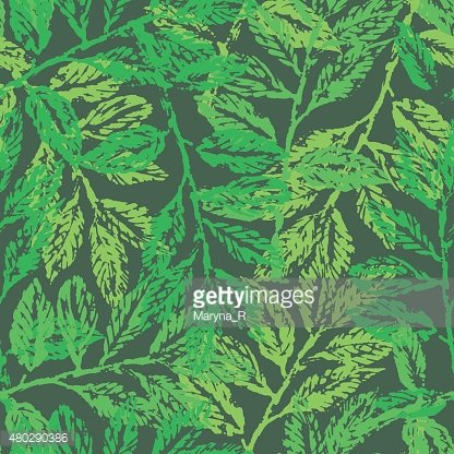 Seamless pattern with laurel branches