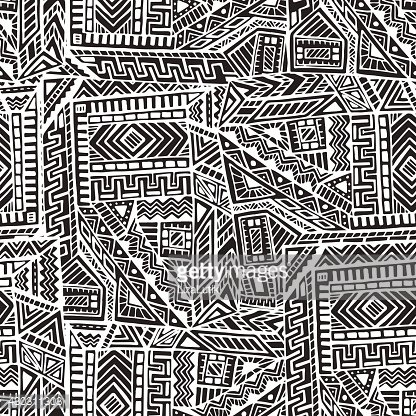 Seamless Pattern in Ethnic Style