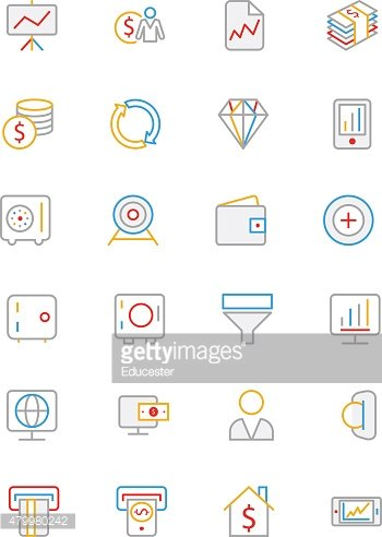 Finance Colored Line Icons 3