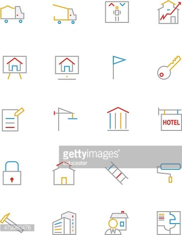 Real Estate Colored Line Icons 3