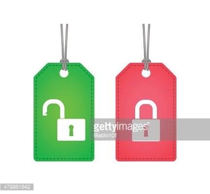 Labels with a lockpad