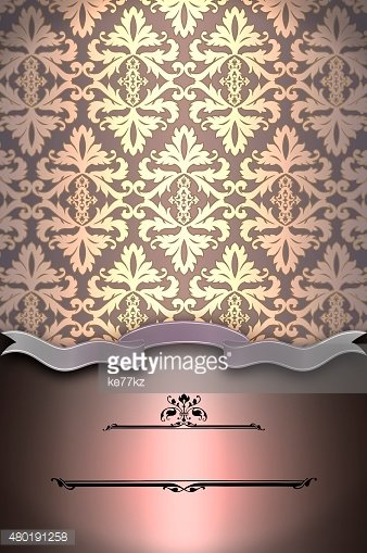 Vintage background with old-fashioned patterns.